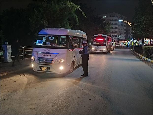 Büyükşehir Zabıtasından, Tarsus'taki Toplu Taşıma Araçlarına Denetim