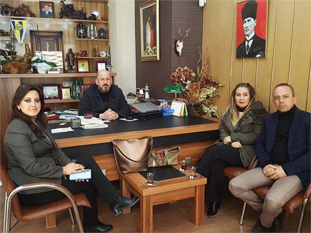 Uçan Koleji Yöneticileri, Gazetemizi Ziyaret Etti