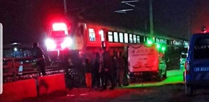 Tren'in, Çarptığı Kadın Hayatını Kaybetti