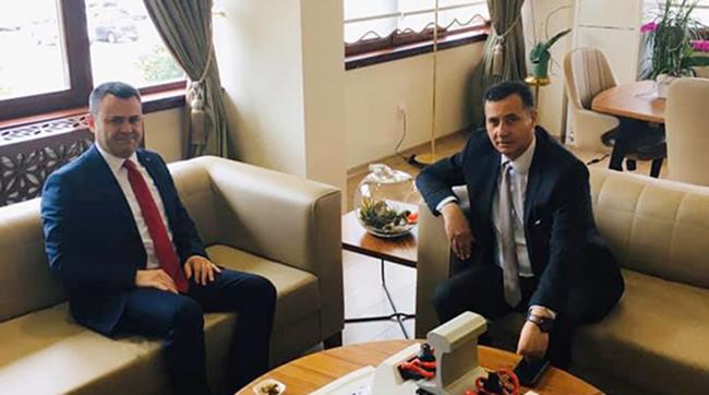 Kaymakam Otcu, TCDD Adana 6. Bölge Müdürü  Dönmez'i Ziyaret Etti
