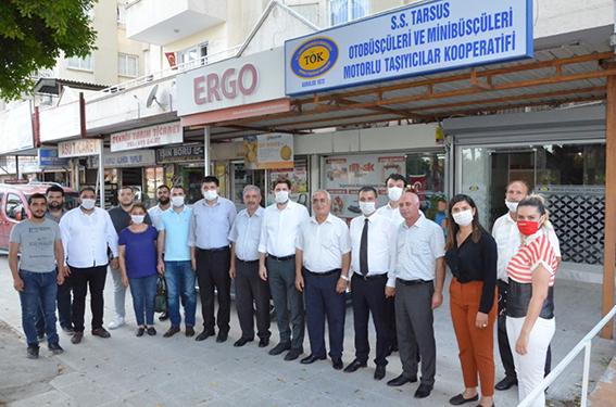 Tarsus CHP Bir Günde 19 STK'yı Ziyaret Etti