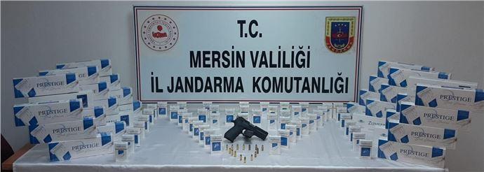 430 paket gümrük kaçağı sigara ele geçirildi