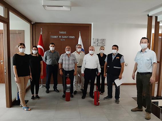 Tarsus Ticaret Odasında Yangın Eğitimi