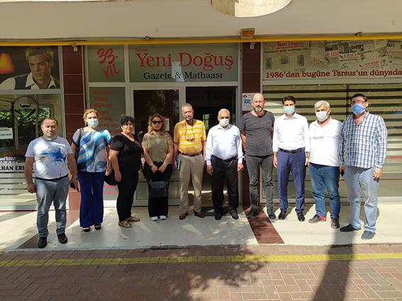 Tarsus MHP İlçe Teşkilatından Gazetemize Ziyaret