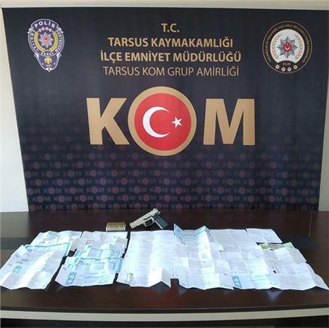 Tarsus'ta tefeci operasyonu: 2 gözaltı