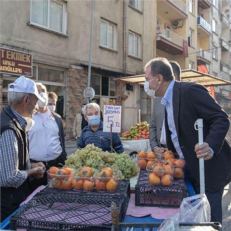 SEÇER, Akdeniz İlçesin'deki  Esnafı Ziyaret Etti