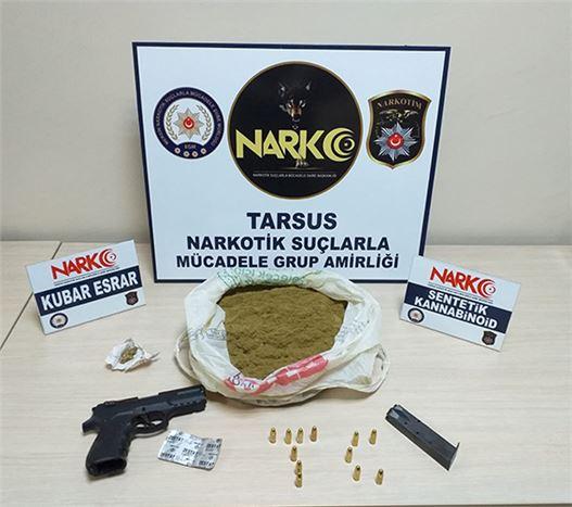 Tarsus'ta İş Yerinde Kumar Oynayan 4 Kişi Suçüstü Yakalandı