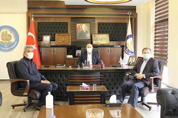 Müftü Ali Can Başkan Murat Kaya'yı Ziyaret Etti