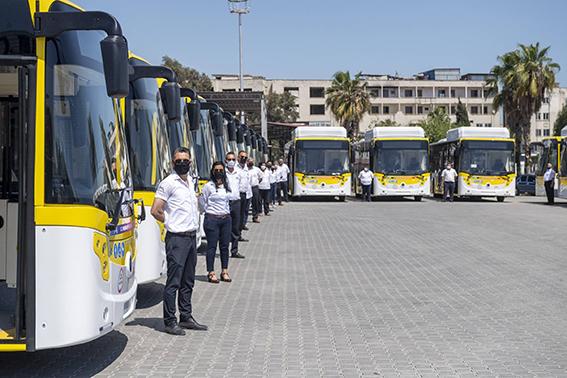 Büyükşehir Belediyesinin Aldığı  Otobüslerden 30'u Mersin'e Geldi