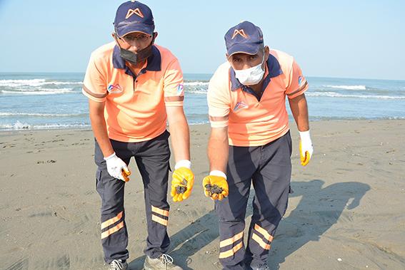 Tarsus Plajında Temizlik  Çalışması Yapıldı