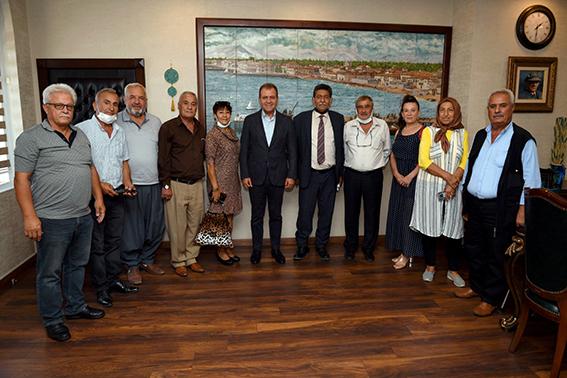 TÜM EMEK DERTarsus Şube Başkanı  Gözener'den Vahap Seçer'e Ziyaret