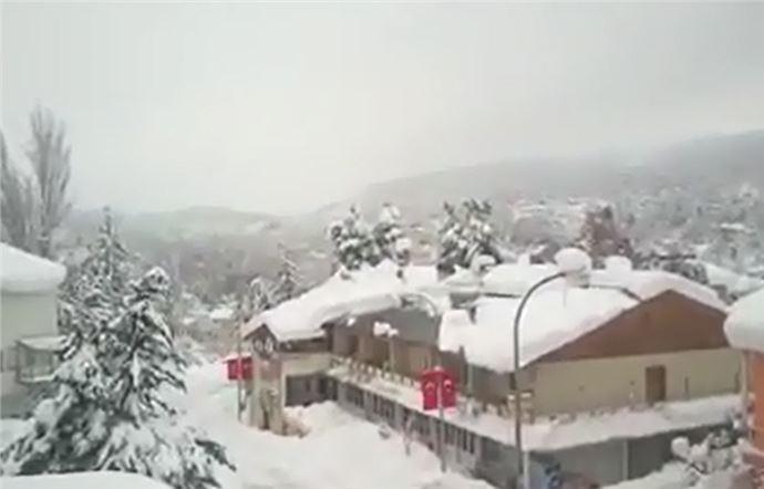Mersin Çamlıyayla'da Kar Afetiyle Mücadele