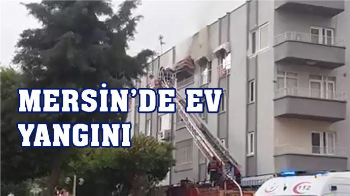 Mersin 23. Evler'de Ev Yangını