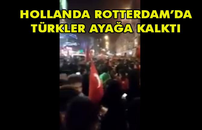 Hollanda Rotterdam'da Türkler Protesto Ediyor