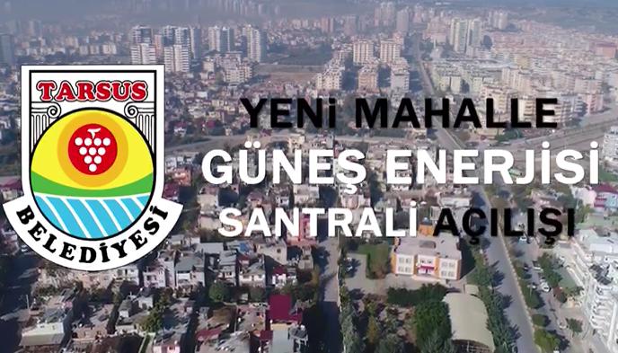 Tarsus'ta GES Projesinin Resmi Açılışı Yapıldı